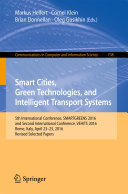 Smart Cities, Green Technologies, and Intelligent Transport Systems