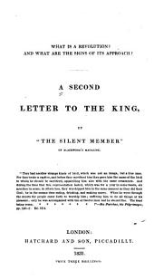 A Second Letter to the King