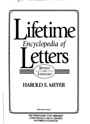 Lifetime Encyclopedia of Letters PDF