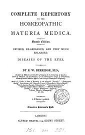 Complete repertory to the homæopathic materia medica. Diseases of the eyes
