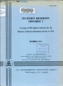 EPA Reports Bibliography Supplement PDF