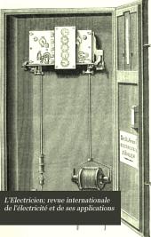 L'Electricien; revue internationale de l'électricité et de ses applications: Volume12,Partie2