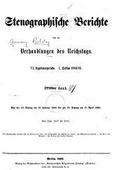 Verhandlungen des Reichstags: Band 81