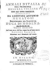 Annali d'Italia: dal principio dell'era volgare sino all'anno MDCCXLIX
