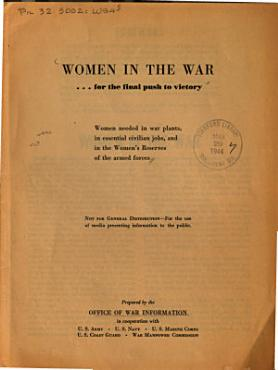 Women in the War for the Final Push to Victory PDF