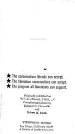The New Conservative Liberal Manifesto
