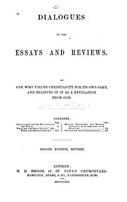 Dialogues on the Essays and Reviews PDF