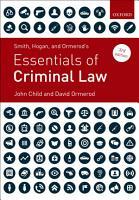Smith  Hogan  and Ormerod s Essentials of Criminal Law PDF