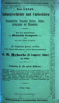 Culturgeschichte und Curiosit  ten0 PDF
