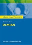 Textanalyse und Interpretation zu Hermann Hesse  Demian PDF