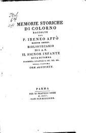 Memorie storiche di Colorno: Opera postuma con aggiunte