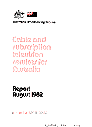 Cable And Subscription Television Services For Australia