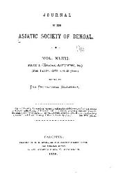 Journal of the Asiatic Society of Bengal: Volume 47, Issues 1-4