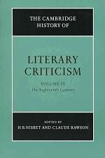 The Cambridge History of Literary Criticism: Volume 4, The Eighteenth Century