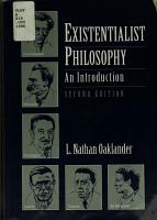Existentialist Philosophy PDF