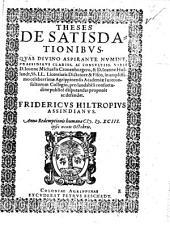 Theses de satisdationibus