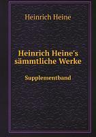 Heinrich Heine s s mmtliche Werke PDF