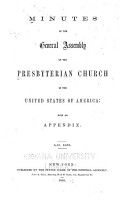 Minutes of the General Assembly of the Presbyterian Church in the United States of America PDF