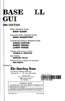 Sporting News Baseball Guide  1990 PDF
