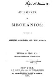 Elements of Mechanics: For the Use of Colleges, Academies, and High Schools