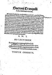 Suetonii Tranquilli Liber illustrium virorum