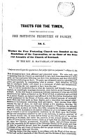 Tracts for the times  under the sanction of the Free protesting presbytery of Paisley PDF