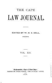 The Cape Law Journal: Volume 12