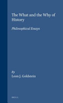The What and the Why of History