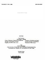 Journal of the Mechanical Behavior of Materials