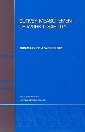 Survey Measurement of Work Disability PDF