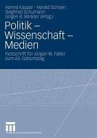Politik   Wissenschaft   Medien PDF