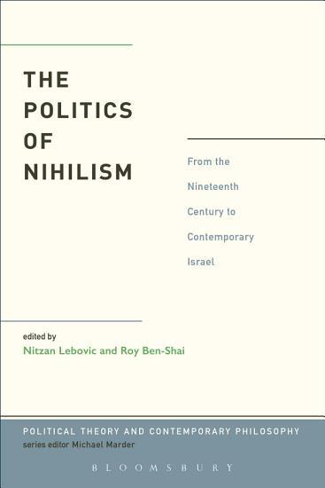 The Politics of Nihilism PDF