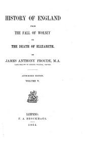 History of England from the Fall of Wolsey to the Death of Elizabeth by James Anthony Froude: Volume 5