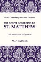 The Gospel According to St  Matthew PDF