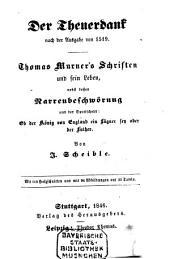 Thomas Murner's Schriften und sein Leben