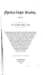 Medico-legal Studies: Volume 2