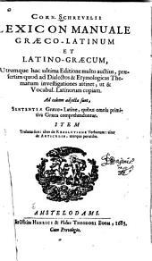 Lexicon manuale græco-latinvm et latino-græcum