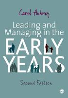 Leading and Managing in the Early Years PDF