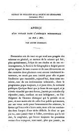 Aperçu d'un voyage dans l'Amérique méridionale de 1826 a 1833