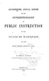 Annual Report of the Superintendent Of...