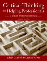 Critical Thinking for Helping Professionals PDF