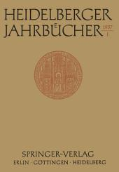 Heidelberger Jahrbücher: Band 1