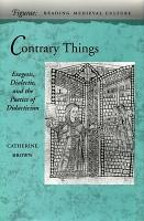 Contrary Things PDF