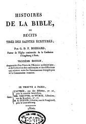 Histoires de la Bible, ou Récits tirés des Saintes Ecritures