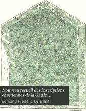Nouveau recueil des inscriptions chrétiennes de la Gaule antérieures au VIIIe siècle: Volume3