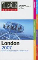 Time Out Shortlist 2007 London PDF