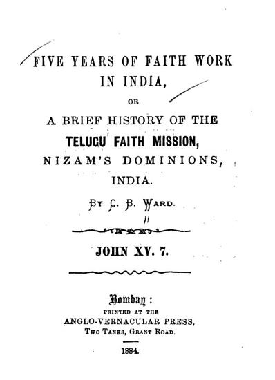 Five Years of Faith Work in India PDF