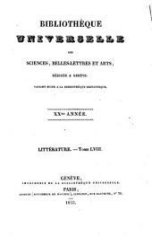 Bibliothèque universelle: revue suisse et étrangère, nouvelle période
