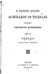 Achilleis et Thebais, recensuit P. Kohlmann
