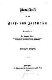 Monatschrift für das Forst- und Jagdwesen: 1876